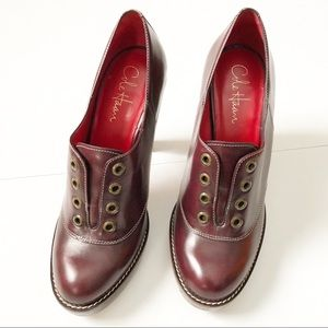 Cole Haan Nike Air Oxblood Oxford Laceless Heels